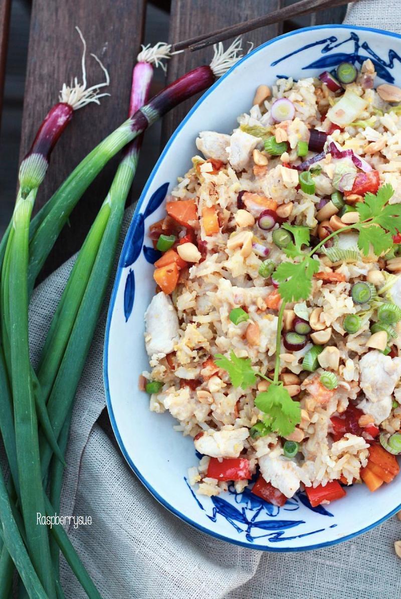 Rezept Gebratener Reissalat mit Erdnuss-Dressing