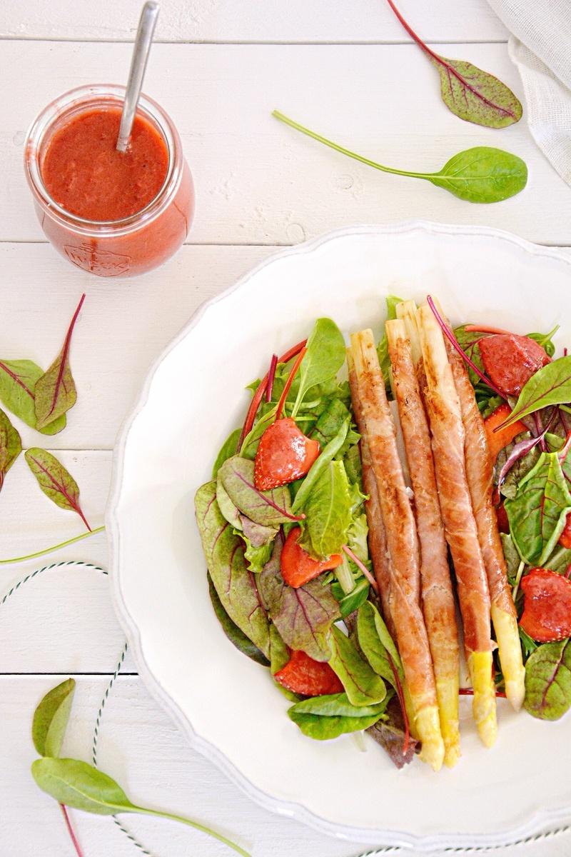 Rezept Gebratener Spargel mit Erdbeersalsa