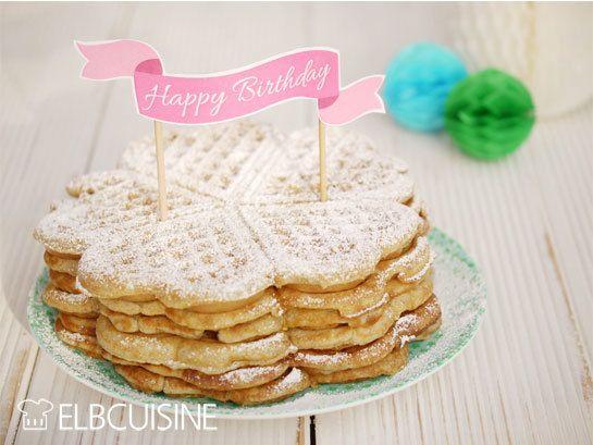 Rezept Geburtstags-Waffeln – Knuspergeburtstagsgruß fürs Knusperstübchen