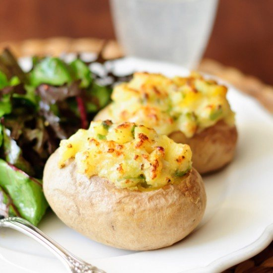 Rezept Gefüllte Backofenkartoffeln