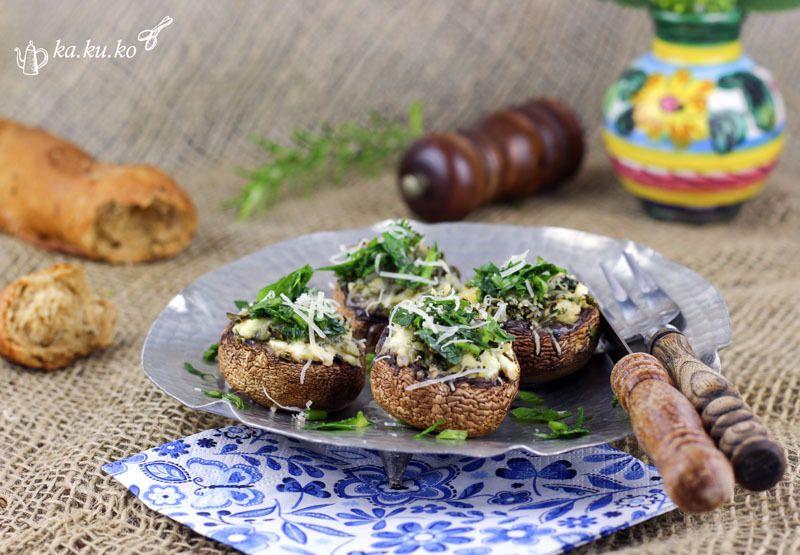 Rezept Gefüllte Champignons mit Feta