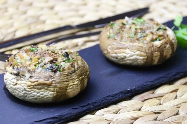 Rezept Gefüllte Champignons mit Minze und Petersilie