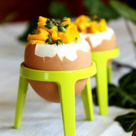 Rezept Gefüllte Eier mit Kräutercreme