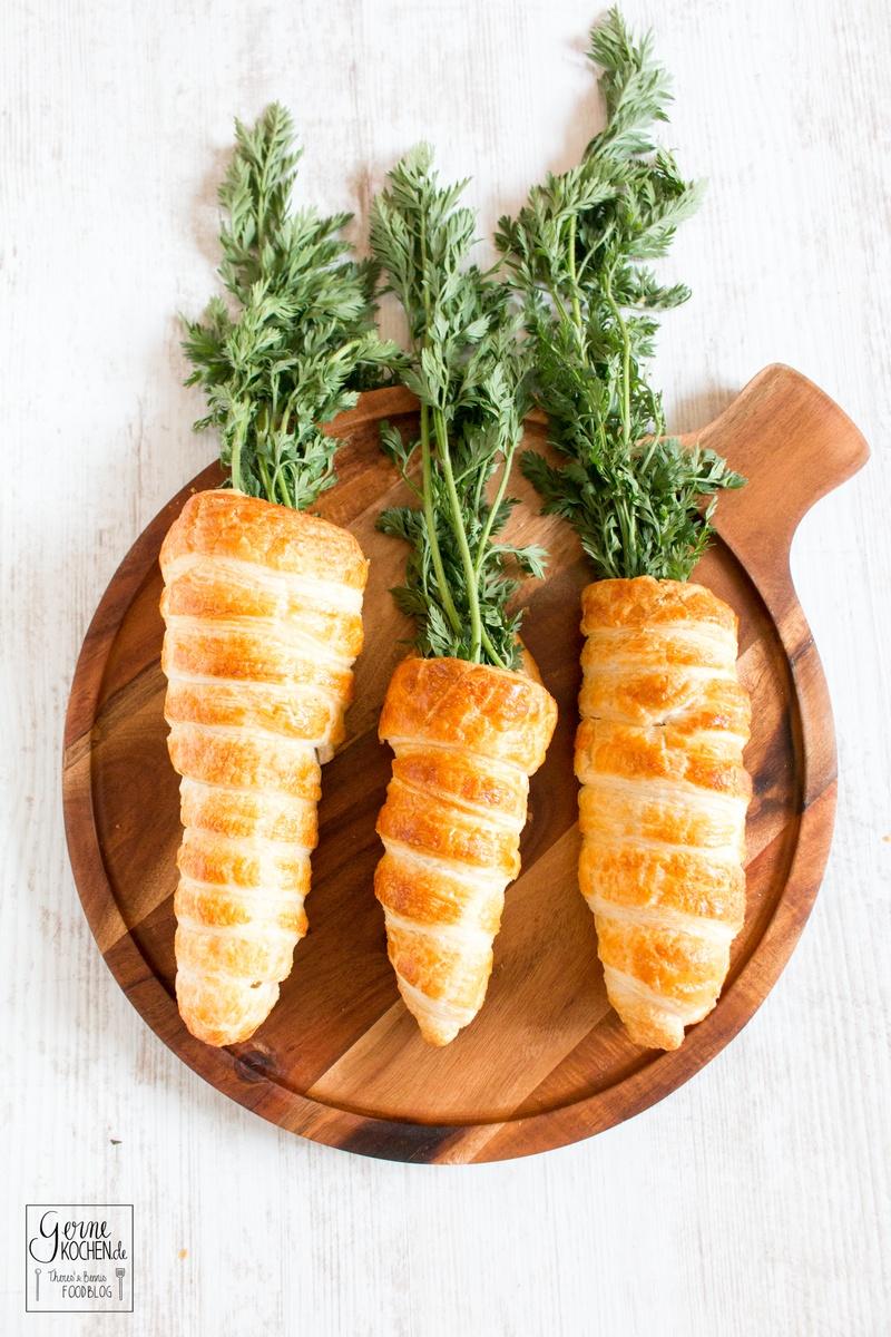 Rezept Gefüllte Möhren mit einem Rote-Linsen-/Möhren-Humus