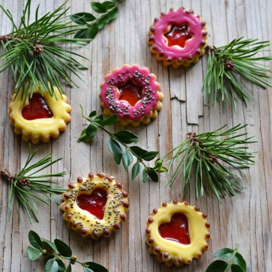 Rezept Gefüllte Mürbeteig Plätzchen mit Chia Samen - Hildabrötchen