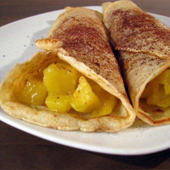 Rezept Gefüllte Pfannkuchen mit Mangokompott