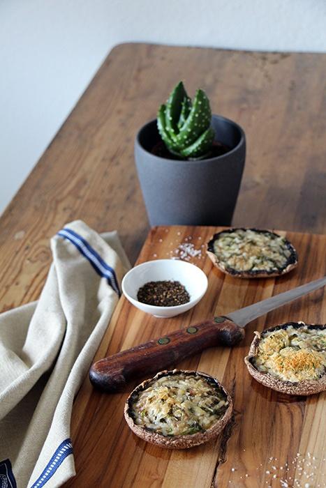 Rezept Gefüllte Portobello-Pilze vom Grill