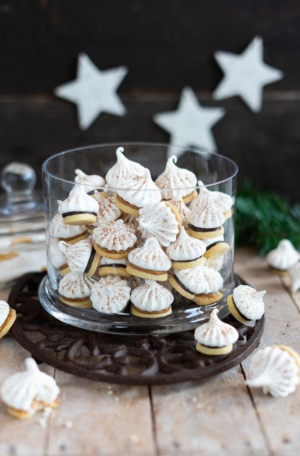 Rezept gefüllte Zimt-Baiser-Mürbeteig Kekse