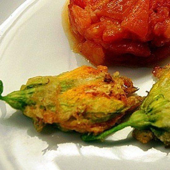 Rezept Gefüllte Zucchiniblüten mit Tomaten