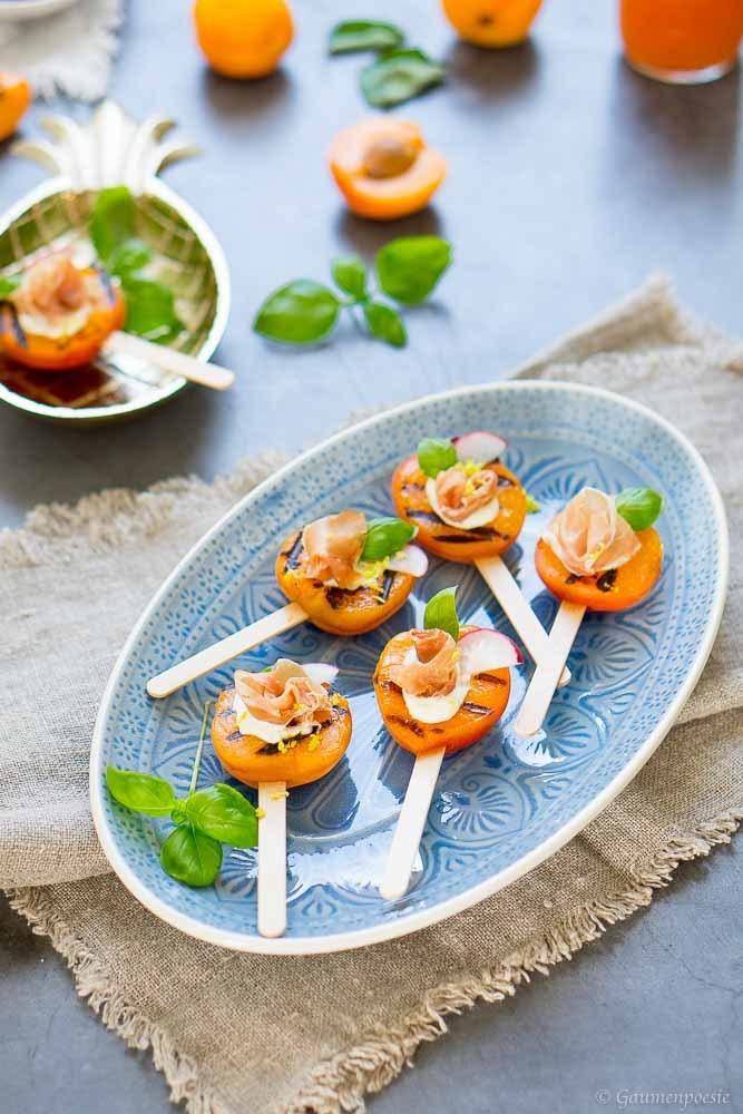 Rezept Gegrillte Aprikosen-Lollies mit Prosciutto