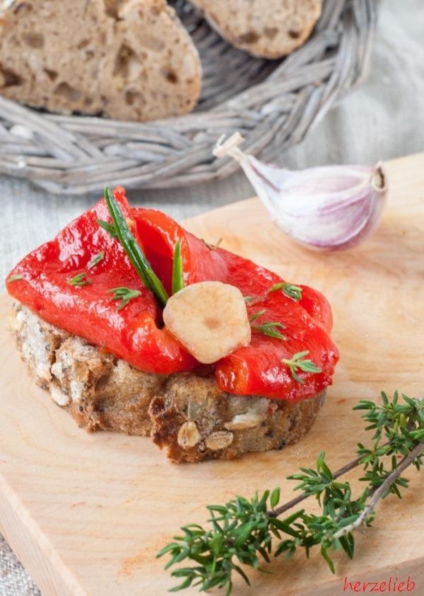 Rezept Gegrillte Paprika - Antipasti