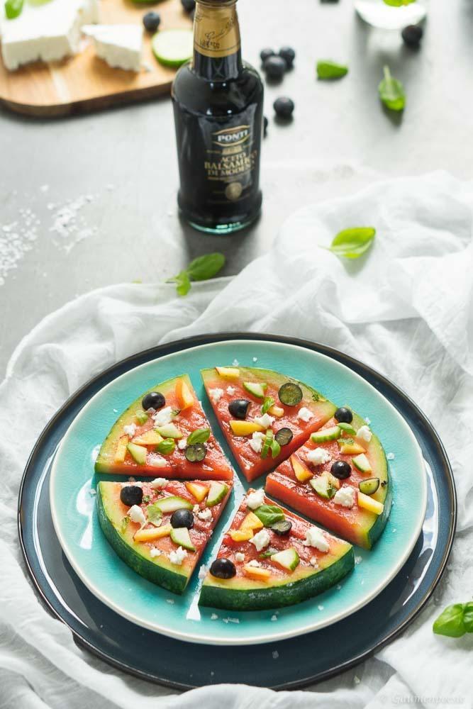 Rezept Gegrillte Wassermelonen-Pizza