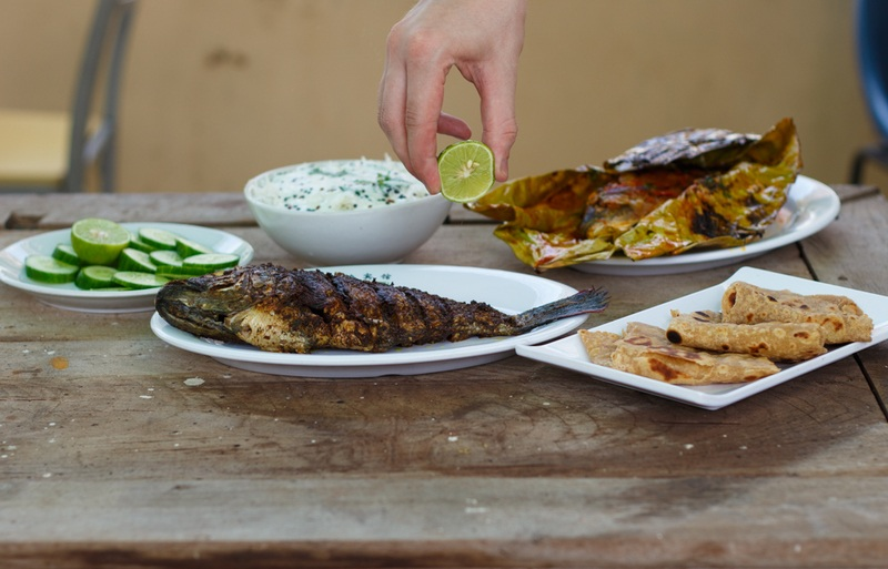 Rezept Gegrillter Fisch in knuspriger Essig-Marinade - Ein Originalrezept aus Indien