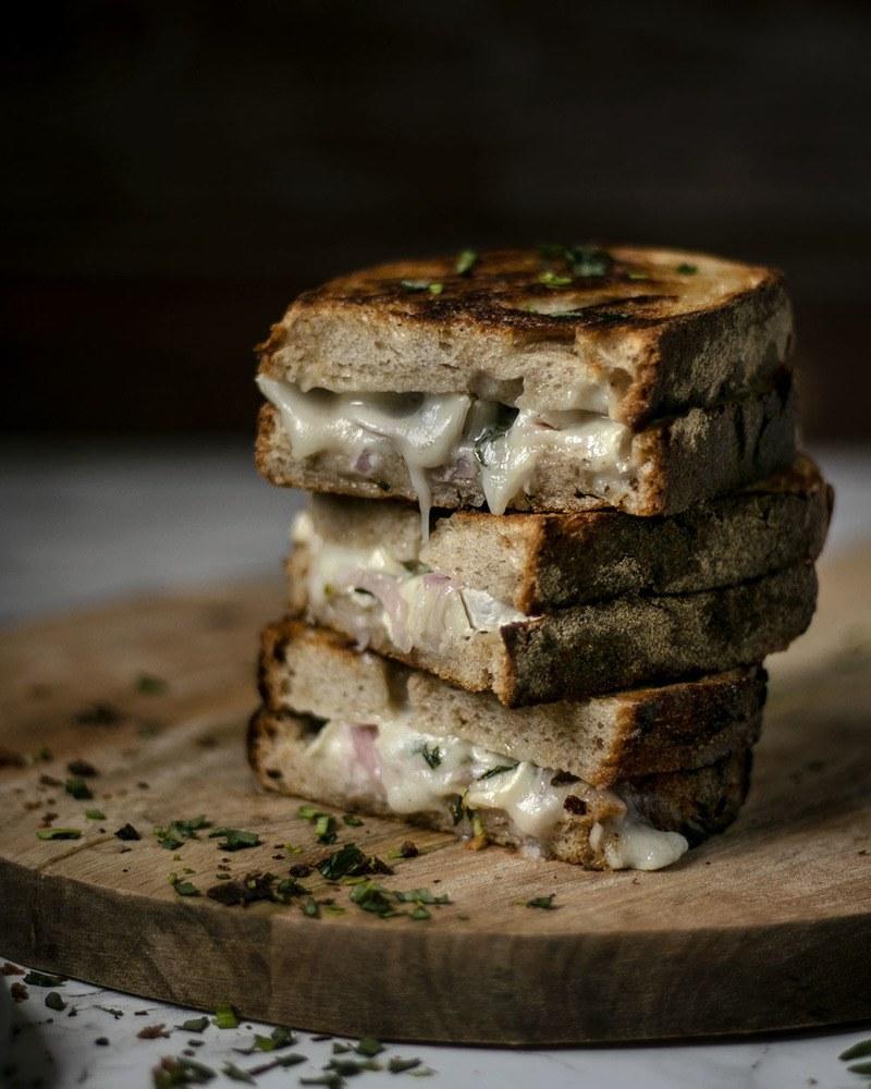 Rezept Gegrilltes Käsebrot mit Ziegenkäse