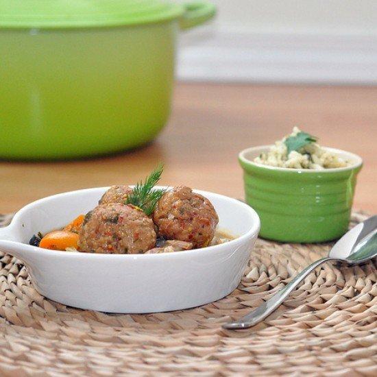 Rezept Gemuese und gebackene Truthahn Baellchen