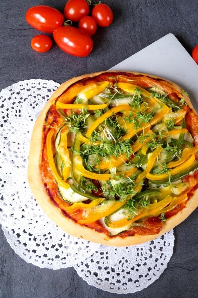Rezept Gemüse Dinkelpizza