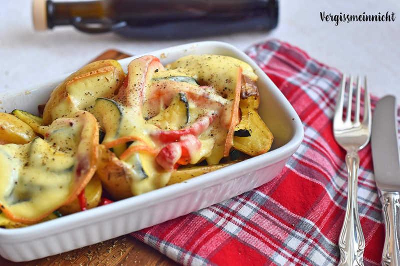 Rezept Gemüse mit Raclette überbacken