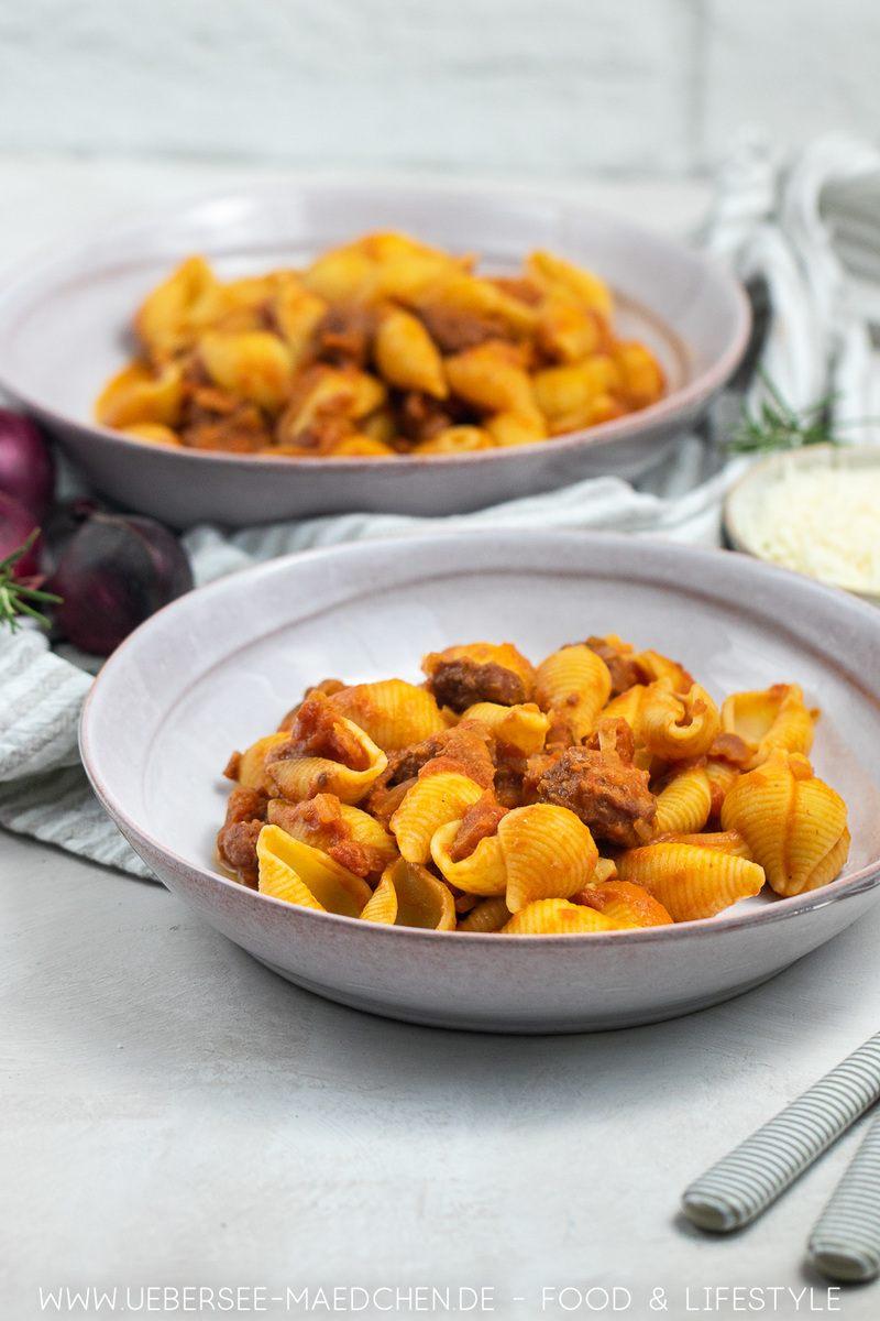 Rezept Geniale Wurstpasta: Pastaglück aus der Pfanne