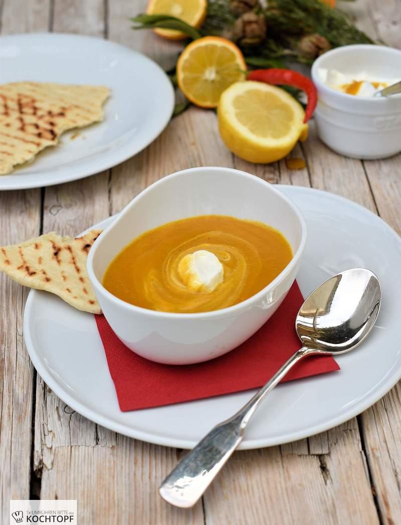 Rezept Geröstete Karottensuppe