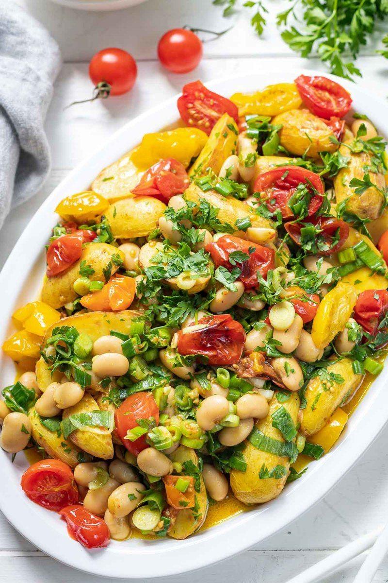 Rezept Geröstete Tomate mit Kartoffelsalat