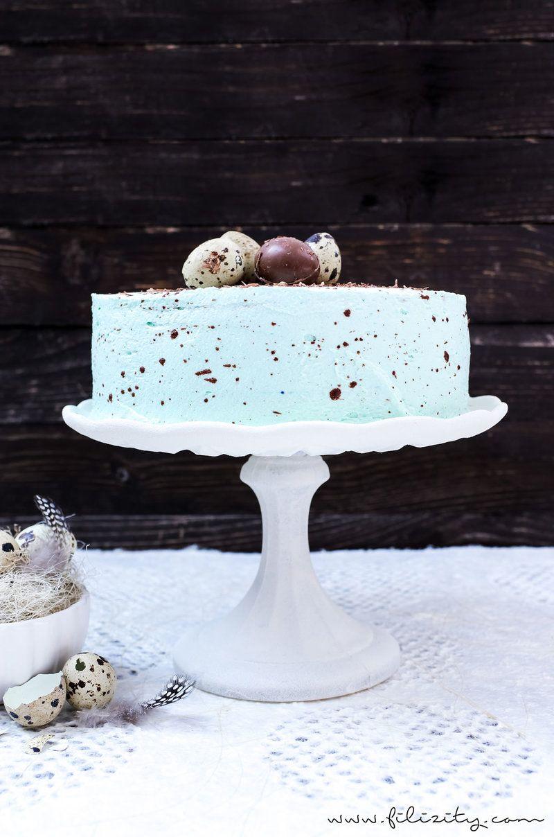Rezept Gesprenkelte Vanille-Nougat-Torte