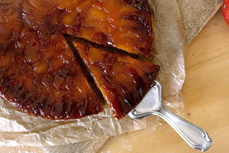 Rezept Gestürzter Apfelkuchen mit Karamell