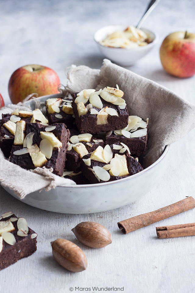 Rezept Gesunde Brownies mit Äpfeln und Zimt