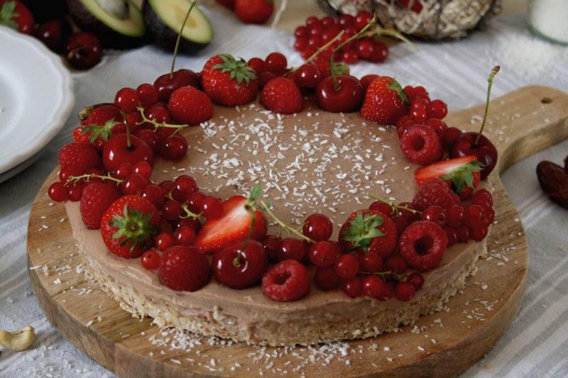 Rezept Gesunde Erdbeer-Kokos-Tarte ohne Backen
