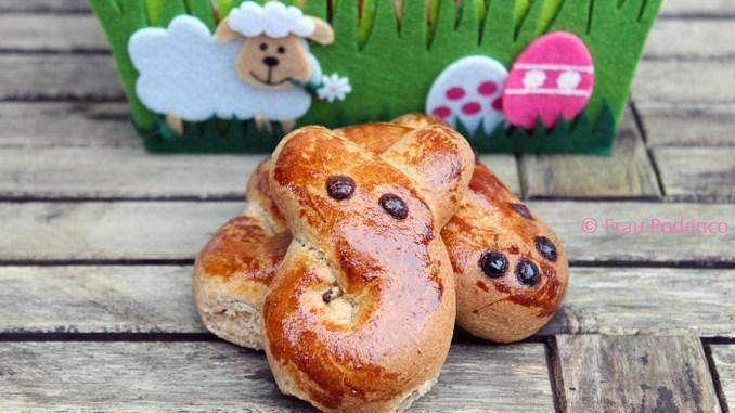 Rezept Gesunde Hefehasen zu Ostern