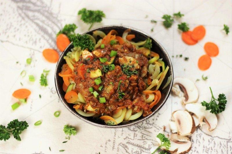 Rezept Gesunde und vegane Gemüsepasta