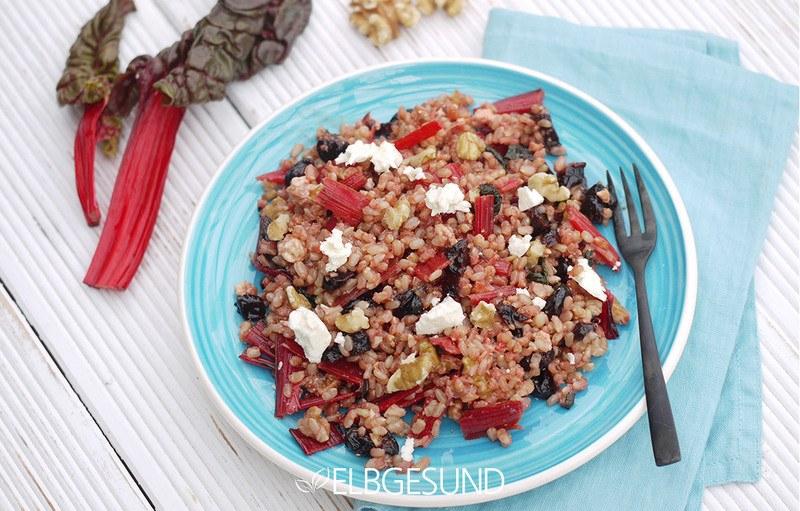 Rezept Gesunder Reis mit rotem Mangold