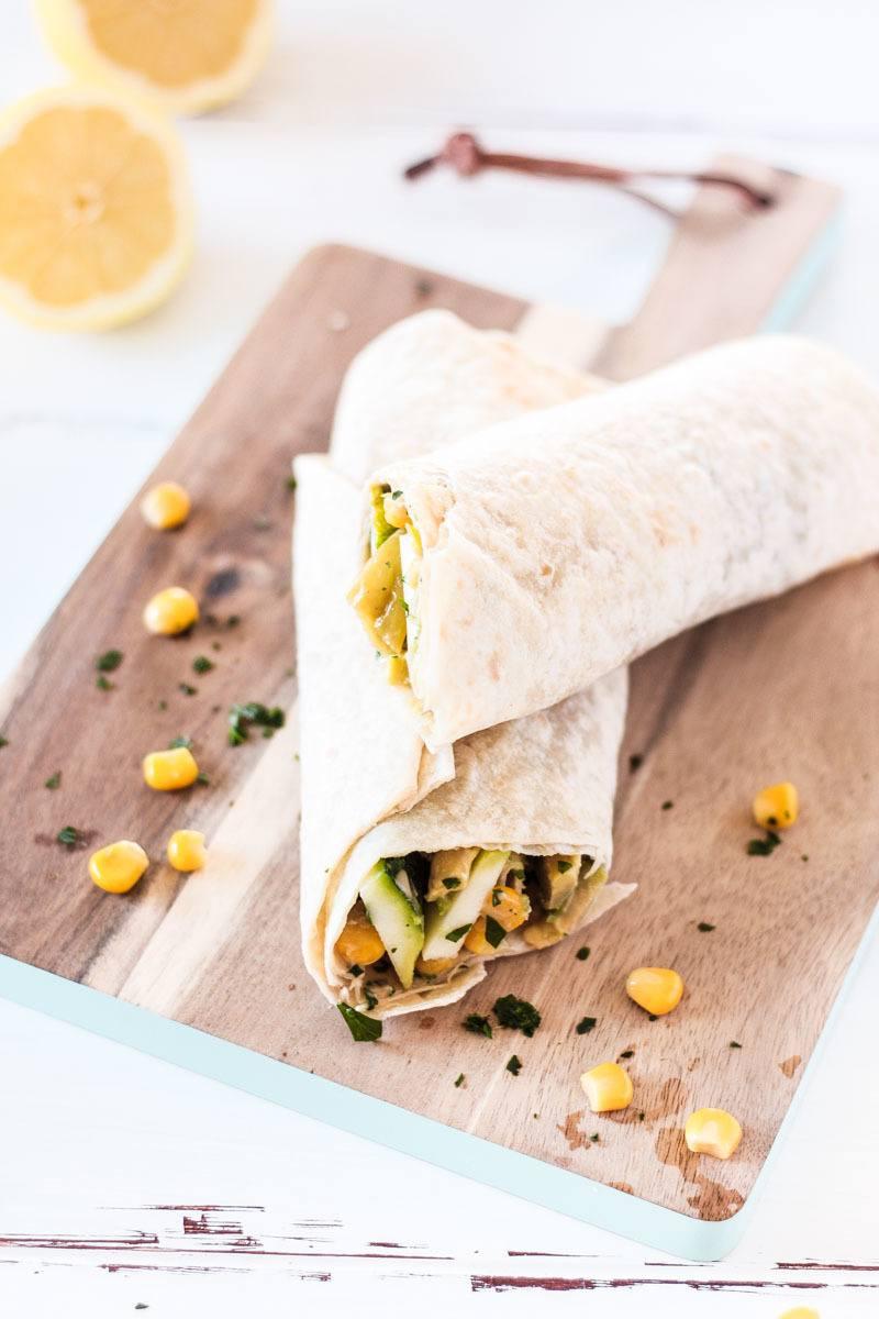 Rezept Gesunder Snack: vegane Avocado Wraps