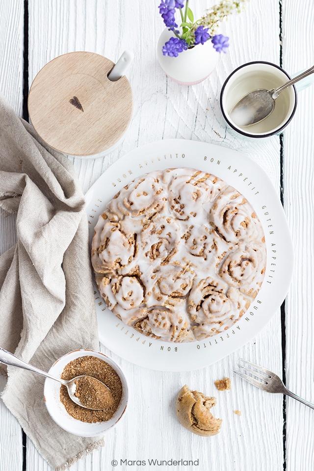 Rezept Gesunder Zimtschnecken-Kuchen