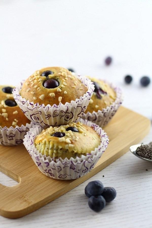 Rezept Gesundes Frühstück: Heidelbeer-Chia-Muffins