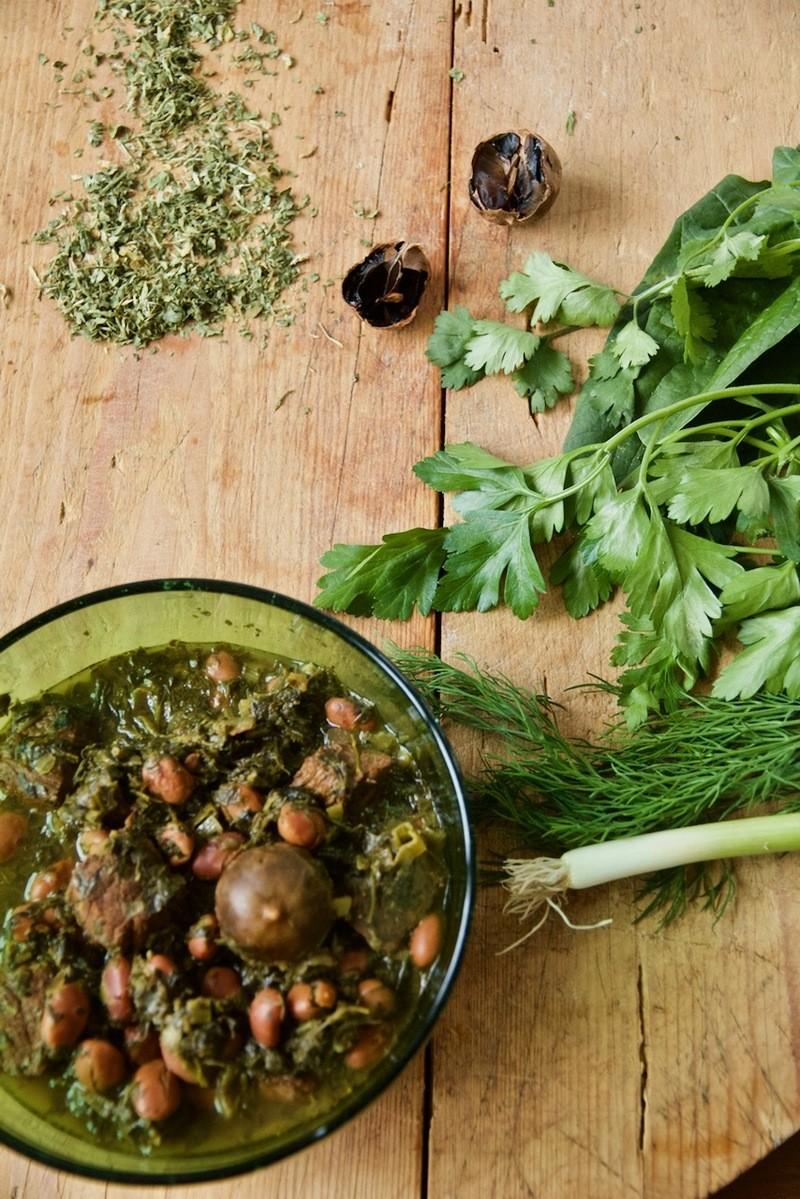 Rezept Ghorme Sabzi - Persisches Rinderragout in Kräuter