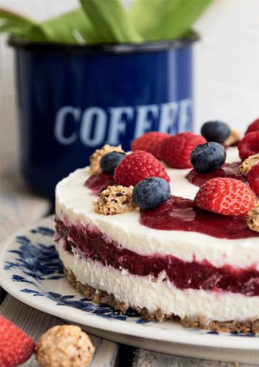 Rezept Giotto-Beeren-Torte (no bake cake)