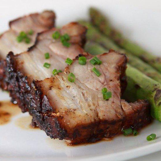 Rezept Glasierter Schweinebauch vom Grill