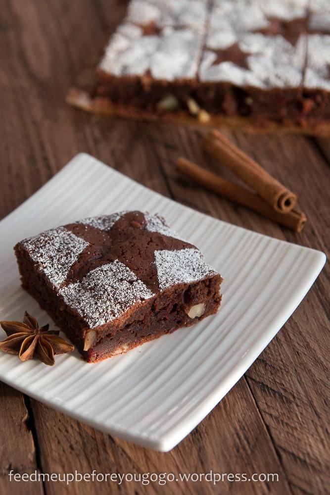 Rezept Glühwein-Brownies mit Roter Bete