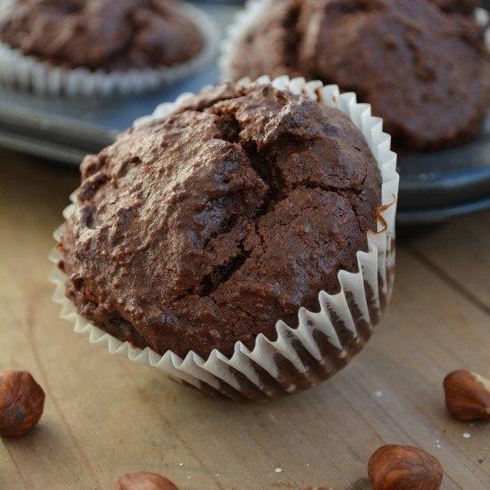 Rezept Glutenfreie Haselnuss Schoko-Muffins
