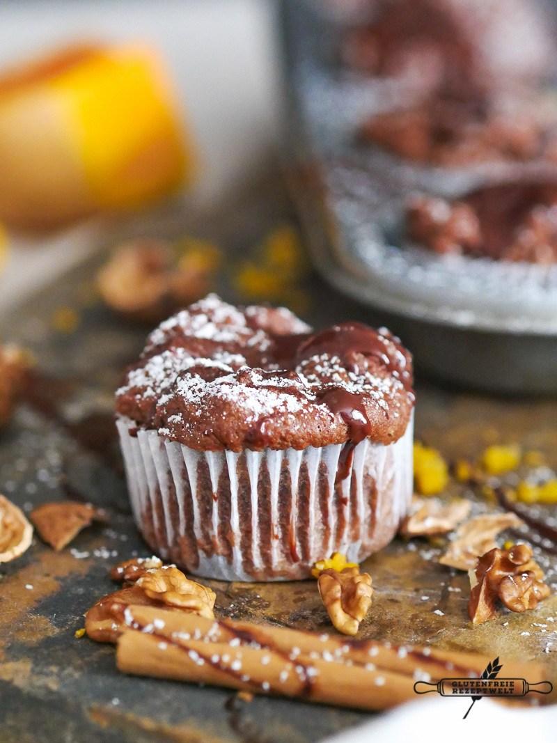 Rezept Glutenfreie Kürbis - Schokoladenmuffins