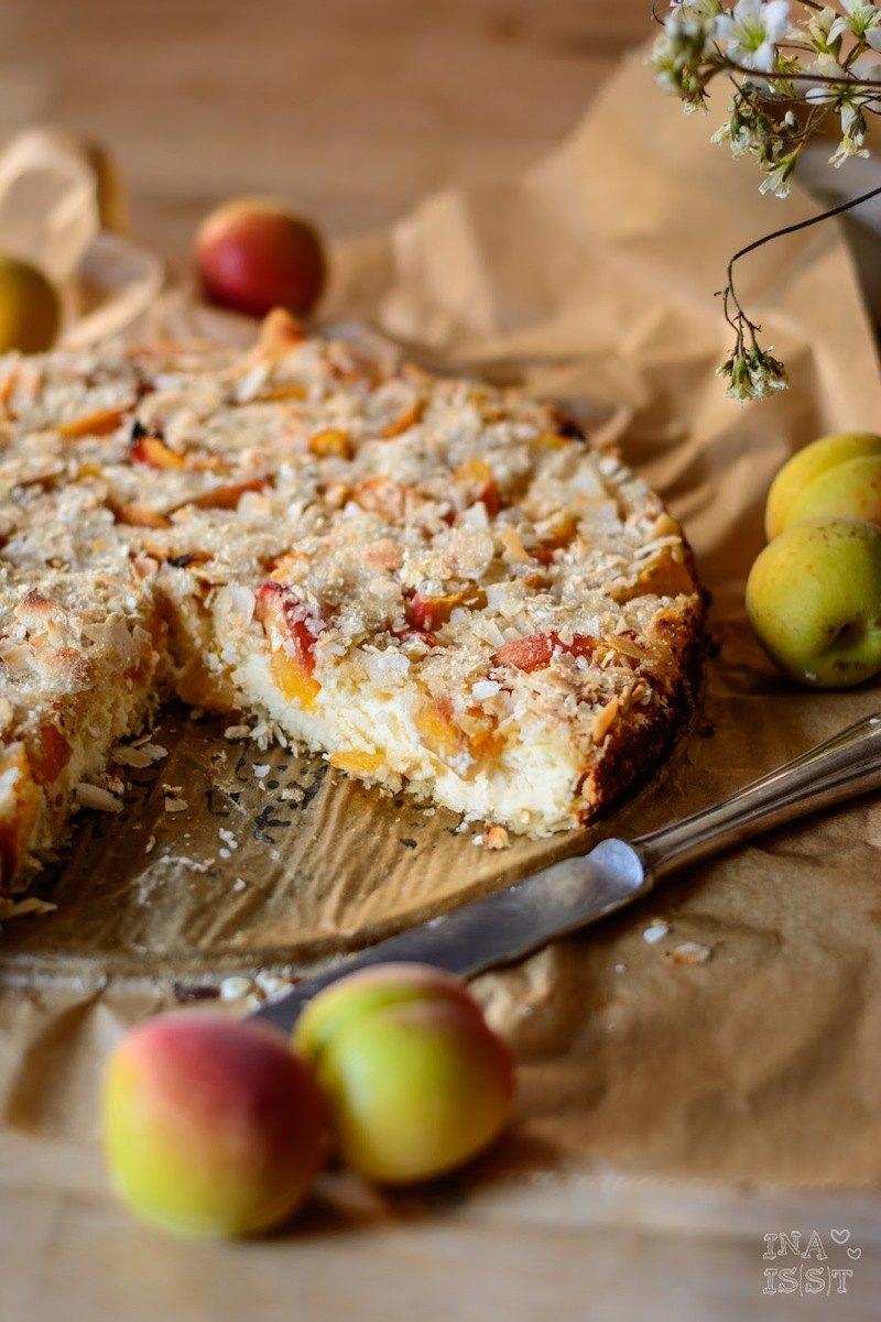 Rezept Glutenfreier Aprikosen-Käsekuchen