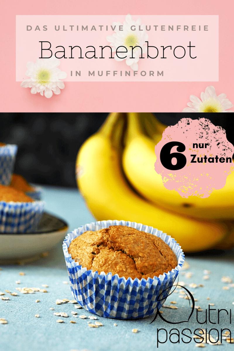 Rezept Glutenfreies Bananenbrot in Muffinform