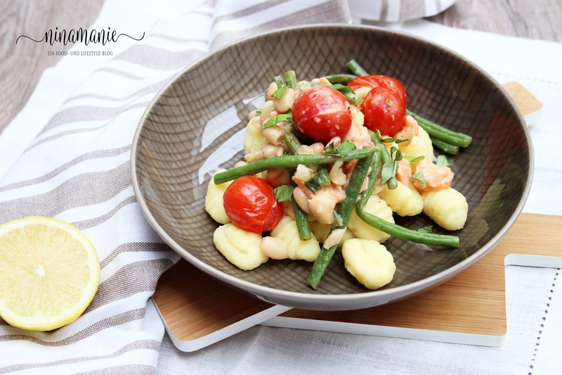 Rezept Gnocchi mit Bohnen, geschmolzenen Tomaten und Bohnen