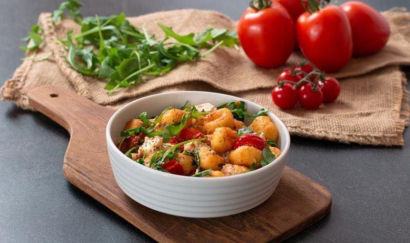 Rezept Gnocchi mit Feta, Rucola & Tomaten