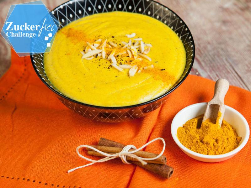 Rezept Golden Kurkuma Pudding ohne Zucker