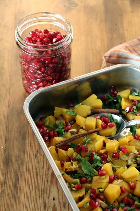 Rezept Gorgonzola-Kürbis mit Granatapfel