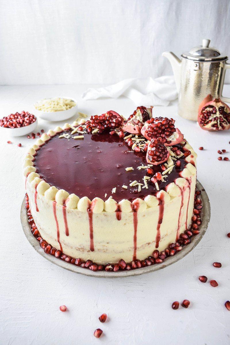 Rezept Granatapfel Weiße Schokoladen Torte