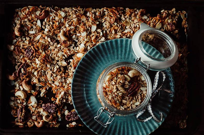 Rezept Granola mit gerösteten Möhren