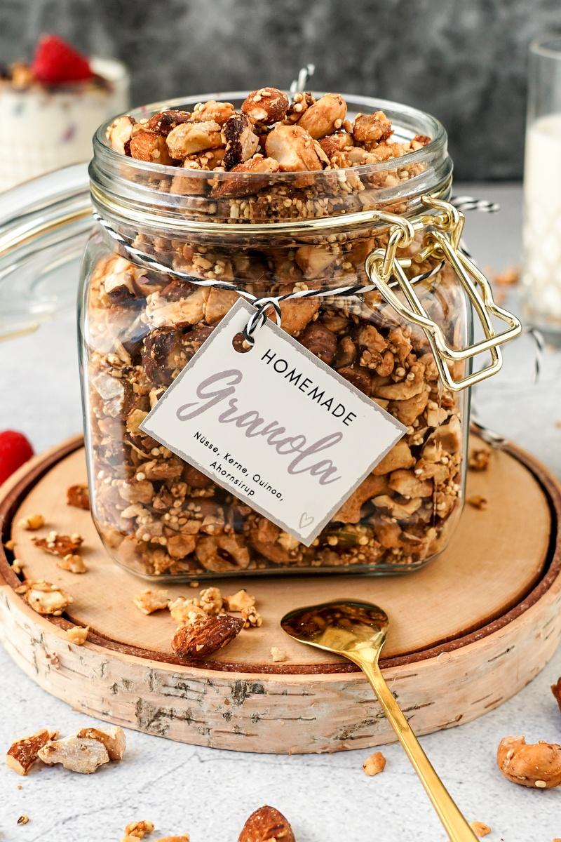 Rezept Granola ohne Zucker