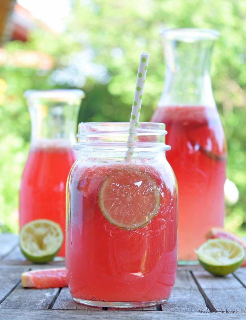 Rezept Grapefruit-Limetten-Limonade